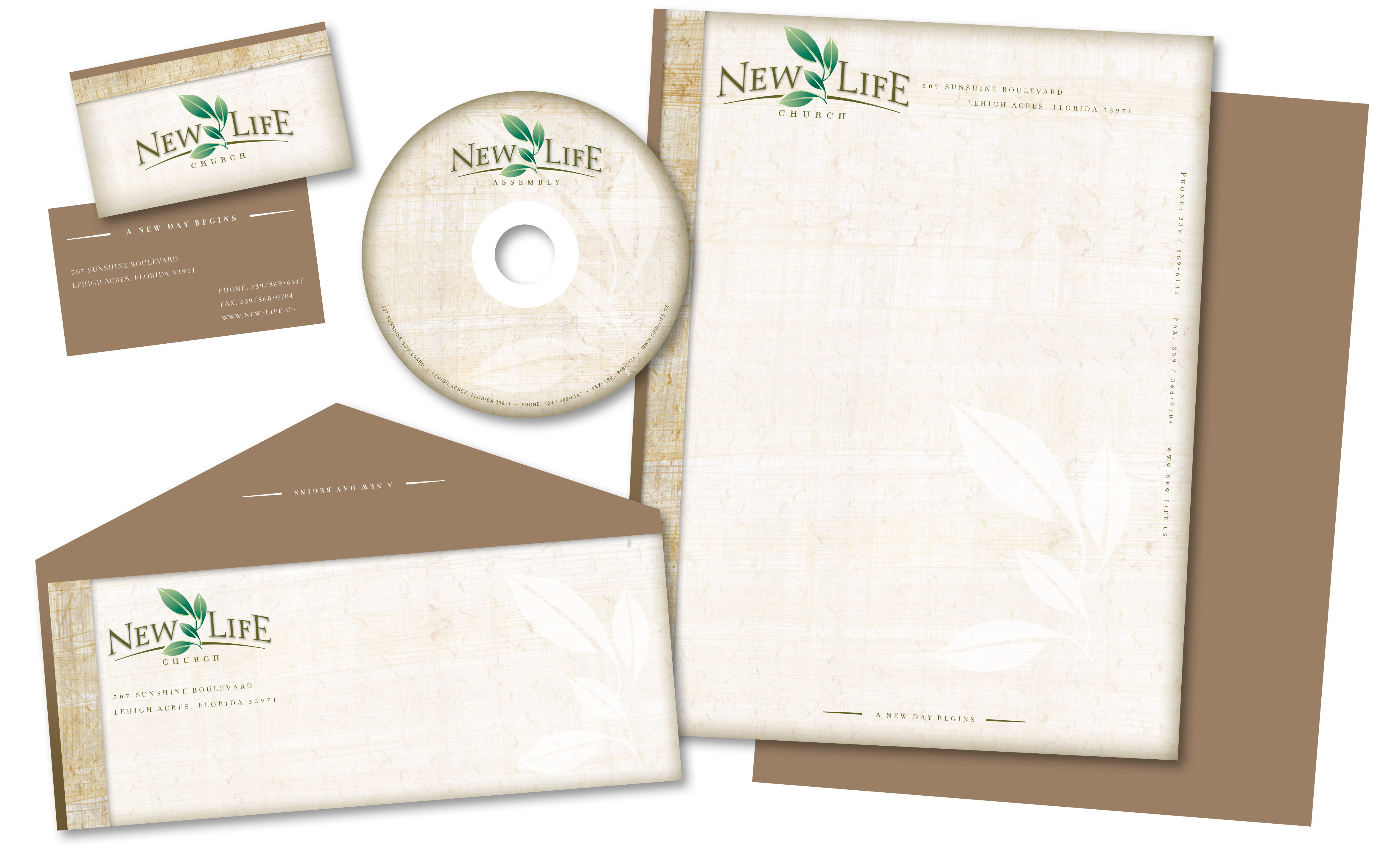 Jeff Kern design - New Life Stationery Package